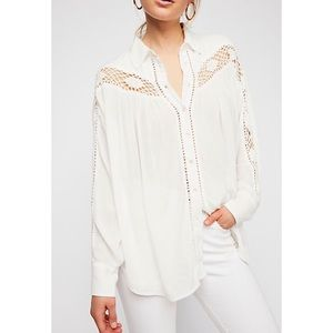 NWT FREE PEOPLE WOVEN TOP